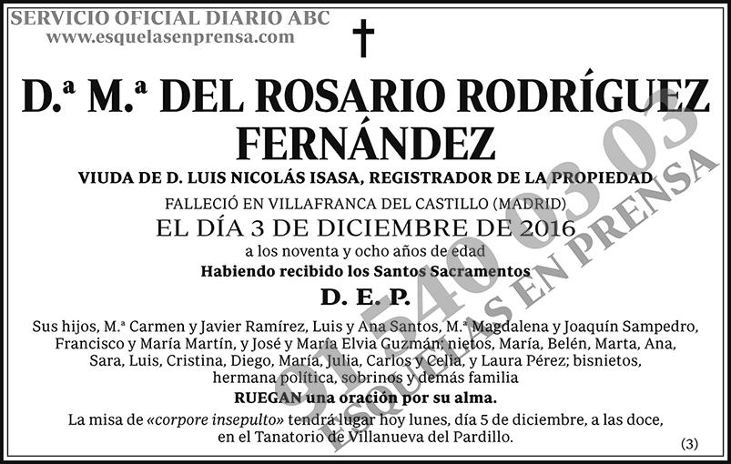 M.ª del Rosario Rodríguez Fernández